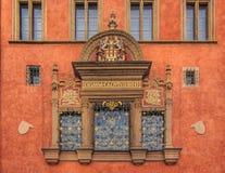 布拉格老城镇厅Windows  免版税图库摄影