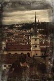 布拉格老城镇-从布拉格城堡的视图 免版税图库摄影