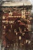 布拉格老城镇-从布拉格城堡的视图 免版税库存图片