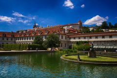 布拉格老庭院  库存图片
