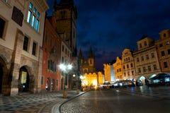 布拉格老镇中心早晨 免版税图库摄影