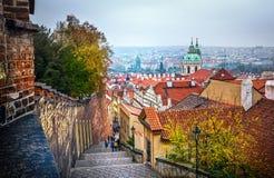 布拉格老镇全景,捷克 库存图片