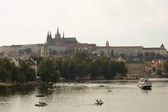 布拉格老镇地区射击  免版税库存照片