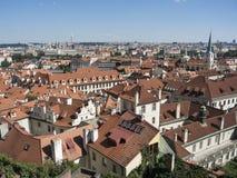 布拉格老镇鸟瞰图  库存照片