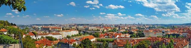 布拉格老镇,捷克全景  免版税库存图片