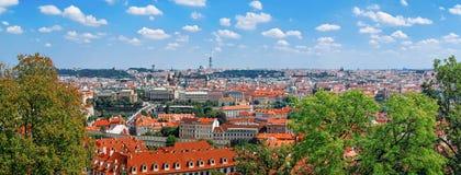 布拉格老镇,捷克全景  库存图片