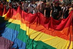 布拉格自豪感同性恋者节日 免版税库存图片