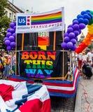 布拉格自豪感的美国使馆 库存图片
