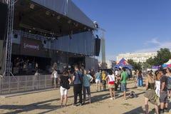 布拉格自豪感主要音乐会阶段2013年 免版税图库摄影