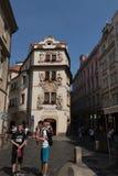 布拉格街道摄影,捷克 库存照片