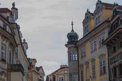 布拉格街道摄影,捷克 图库摄影