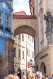 布拉格街道摄影,捷克 免版税图库摄影