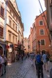 布拉格街道摄影,捷克 库存图片