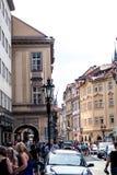 布拉格街道摄影,捷克 免版税库存图片