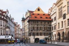 布拉格街道,捷克语 库存照片