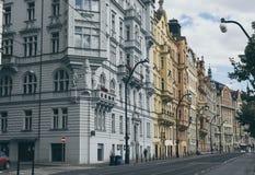布拉格街道  免版税库存照片