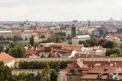 布拉格视图 cesky捷克krumlov中世纪老共和国城镇视图 免版税库存照片