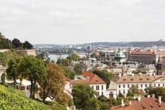 布拉格视图 cesky捷克krumlov中世纪老共和国城镇视图 库存图片