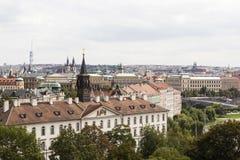 布拉格视图 cesky捷克krumlov中世纪老共和国城镇视图 免版税库存图片