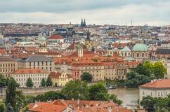 布拉格都市风景,捷克 图库摄影