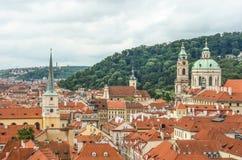 布拉格都市风景,捷克 库存图片