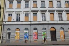 布拉格镇中心 免版税库存图片