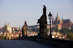布拉格风景日出 免版税库存照片