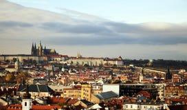 布拉格风景-布拉格城堡-都市风景 免版税库存照片