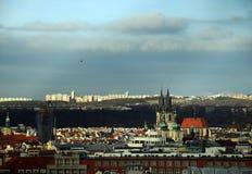 布拉格风景- HoleÅ ¡ ovice -都市风景 库存图片