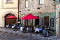 布拉格餐馆 库存图片