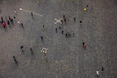 布拉格鸟瞰图老镇中心,捷克,人走 免版税库存照片
