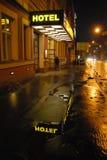 布拉格,在Sokolska街道的旅馆CITI中央 免版税库存图片