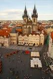 布拉格,捷克共和国鸟瞰图  免版税库存照片