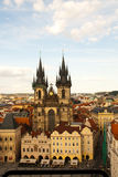 布拉格,捷克共和国鸟瞰图  库存照片