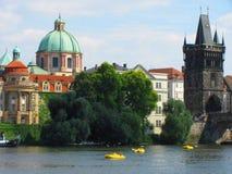 布拉格,捷克共和国,河 库存图片