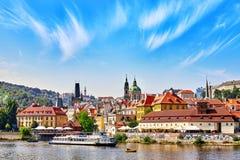 布拉格,捷克共和国2015年9月13日:布拉格看法较少 免版税库存图片