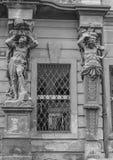 布拉格,捷克共和国 黑色白色 库存照片