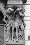 布拉格,捷克共和国 黑色白色 免版税库存照片