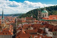 布拉格,捷克顶视图  免版税库存图片