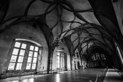 布拉格,捷克, 2017年6月:布拉格城堡内部 免版税库存图片