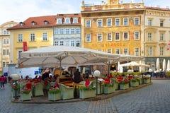 布拉格,捷克, 2017 10 26 :餐馆和旅馆u Princ 免版税库存图片