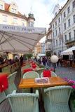 布拉格,捷克, 2017 10 26 :餐馆和旅馆u Princ 库存照片