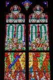 布拉格,捷克- 12可以, 2017年:圣Vitus大教堂的美好的内部在布拉格,捷克 免版税图库摄影