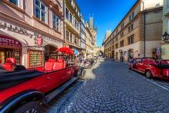 布拉格,捷克- 2017年5月18日:减速火箭被称呼的观光 库存图片