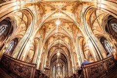 布拉格,捷克- 2017年5月19日:圣皮特圣徒・彼得和P教会  免版税库存图片
