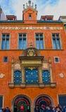布拉格,捷克- 2017年12月31日:巴洛克式的建筑学在老镇中心 库存照片