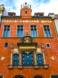 布拉格,捷克- 2017年12月31日:巴洛克式的建筑学在老镇中心 库存图片
