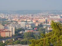 布拉格,捷克- 2018年8月5日:布拉格的全景在一个夏天早晨 捷克语 库存照片