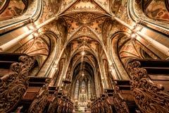 布拉格,捷克- 2017年5月19日:S大教堂内部  免版税库存图片