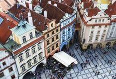 布拉格,捷克- 2015年5月:布拉格老镇中心在捷克 图库摄影